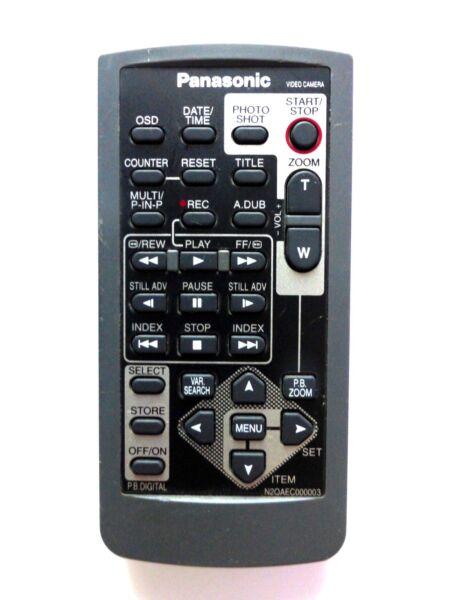 Panasonic Caméscope Distant N 2 Qaec 000003 Pour Nvds 27 Nvds 27b Nvds 28 Nvds 37 Nvds 38 Valeur Formidable