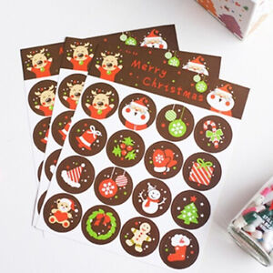 96X-Merry-Christmas-Badge-Sticker-Envelope-Seal-Gifts-Food-Wrapping-Stickers-ATA