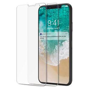 2x-folie-iPhone-X-10-Schutzglas-Schutzfolie-Glasfolie-Folie