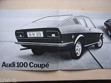 AUDI 100 COUPE prospetto/brochure/DEPLIANT, DK, 11.1969