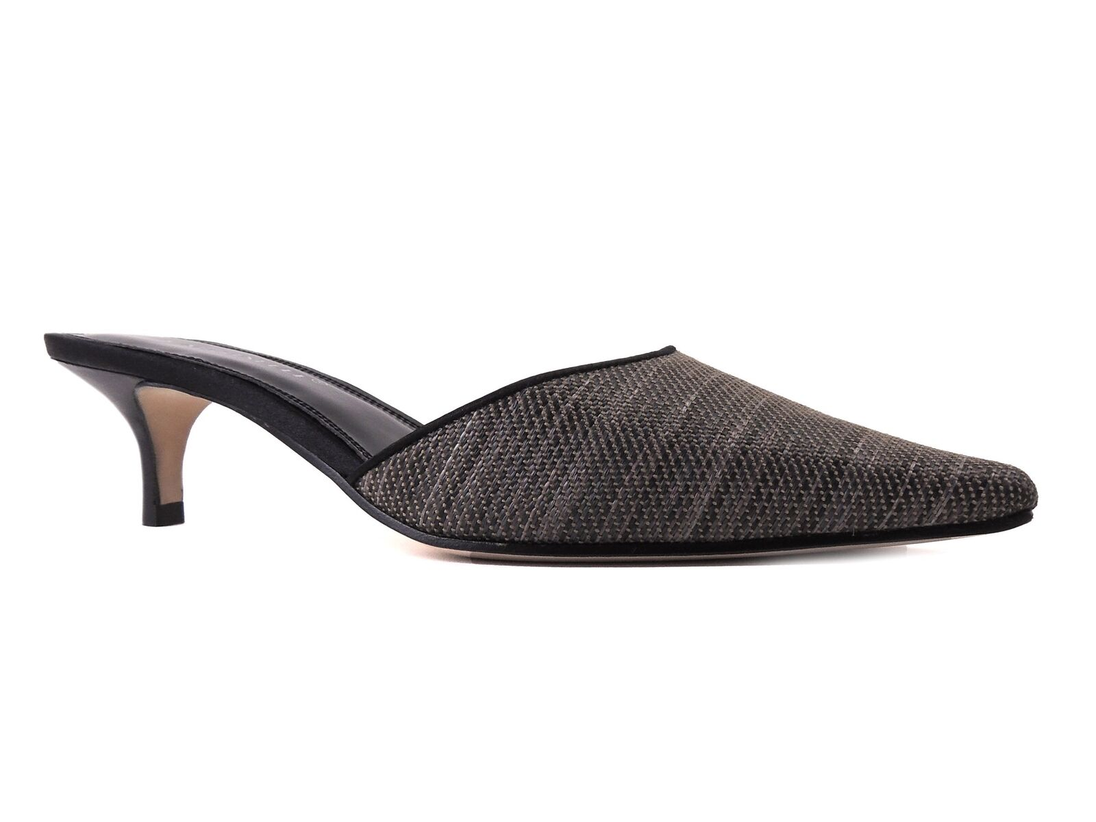 designer online A. Marinelli Donna Donna Donna  Luisa Mules nero Raffia & Leather Dimensione 7.5 M  vendita scontata