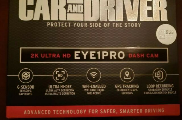 Car And Driver Eye1pro Cdc 632 Ultra Hd 2k Dash Traffic Recording Camera