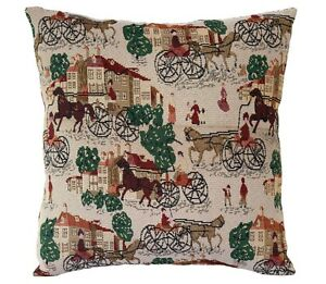 Beige Vintage English Countryside Khadi Weaved Cushion Cover Pillow for Sofa Bed