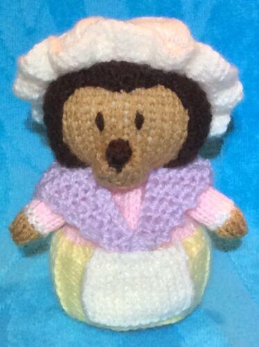 Tejer patrón-la señora Bigarilla-Winkle inspirado Choc Tapa Naranja//Erizo Juguete