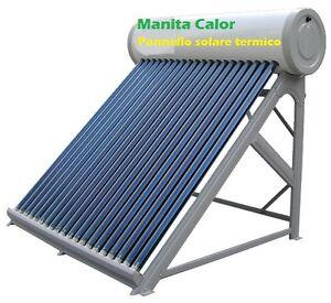 Pannello solare termico acqua calda serbatoio inox 200 for Immagini pannello solare