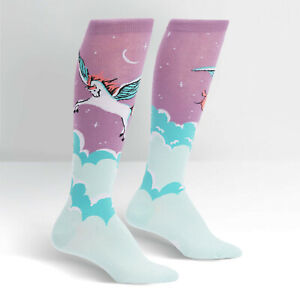 Womens Cotton High Sock Daily Dolphin Pattern Compression Socks For Women
