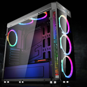 Gaming Computer Atx Pc Case Full Tower Usb 3 0 With 4 Rgb