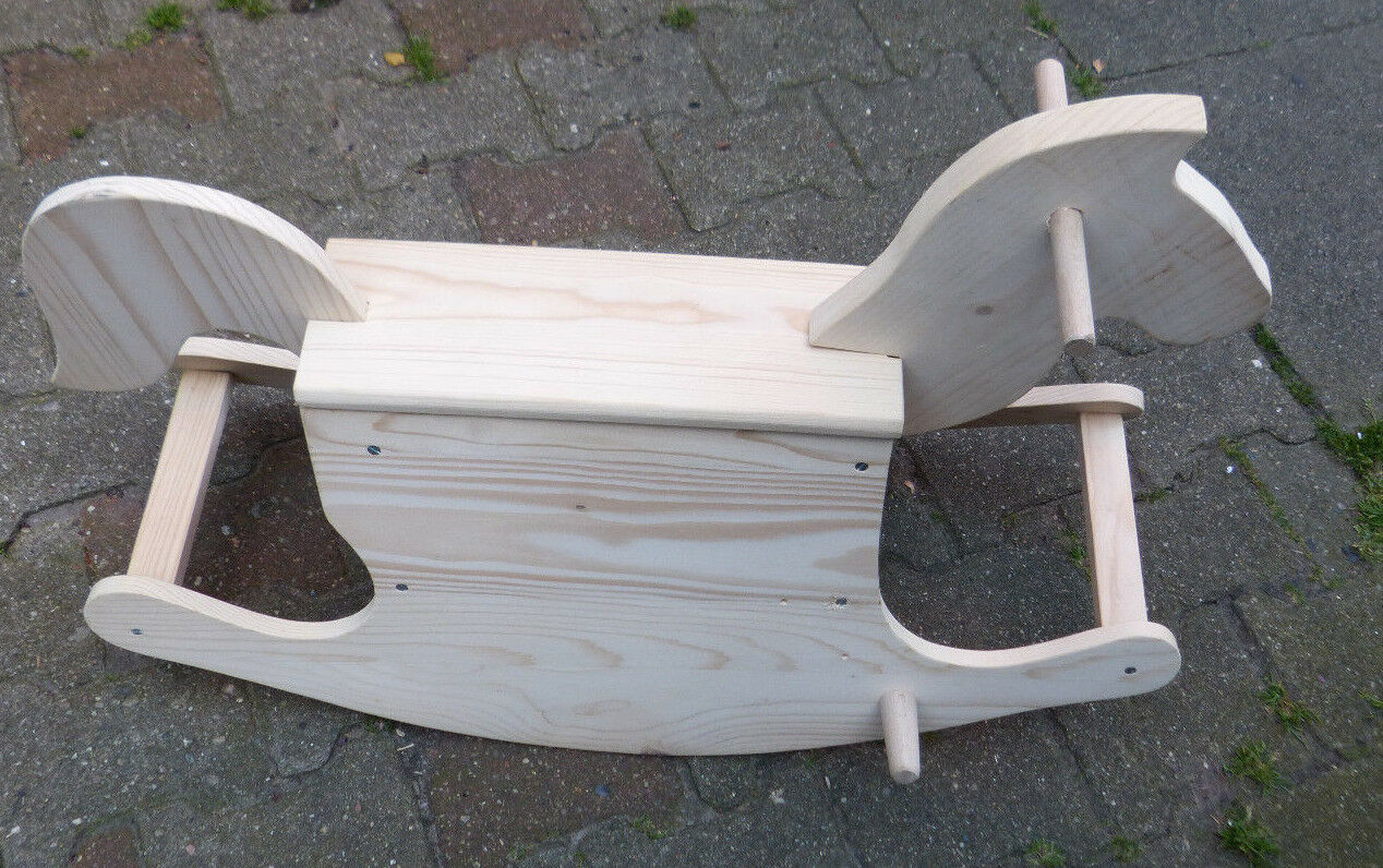 Schönes Schaukelpferd  -  Holz natur  -  neuwertig