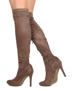 c2edccc9782 New Women DbDk Sofia-8 Faux Suede Over The Knee Pointy Toe Stiletto ...