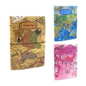 Passport holder wallet case travel world map id ticket receipt image is loading passport holder wallet case travel world map id gumiabroncs Gallery