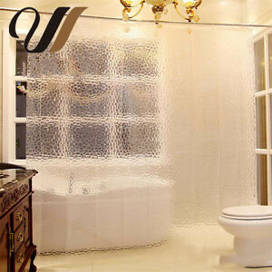 Image Is Loading Optional 3D Water Cube Translucent Bathroom Shower Curtain