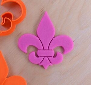 Image Is Loading Small Fleur De Lis Cookie Cutter And Stamp