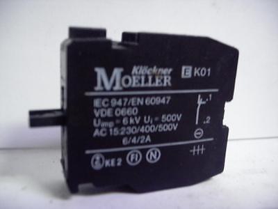 CONTACT BLOCK NC EK01 Lot of 2 KLOCKNER MOELLER