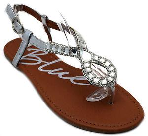 aa2b8275b Image is loading Womens-Rhinestone-Sandals-Beaded-Jeweled-Gladiator-Black- Silver-