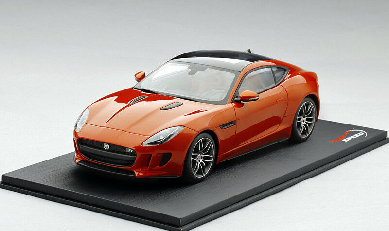 ahorra hasta un 30-50% de descuento Top Speed Speed Speed 1 18 Jaguar F-Type R Coupe firesand Metálico TS0007 TSM  100% garantía genuina de contador