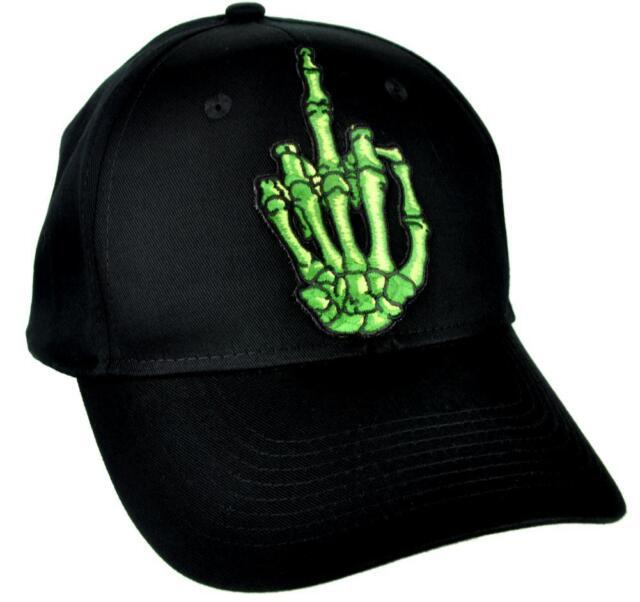cc0a04b84c6 Skeleton Hand Middle Finger Hat Baseball Cap Skater Thrasher Clothing Punk  Rock