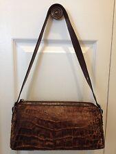 Women Handbag shoulder bags brown mix genuine leather croco The trend Original