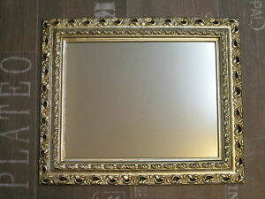Arte Y Antigüedades Espejos Espejo De Pared 43x36 Espejo Barroca Rectangular Plata Antigua Marco De Fotos Grade Products According To Quality