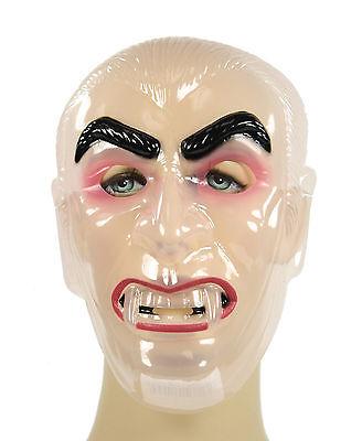 Transparent Clear CLASSIC MONSTER Vampire Dracula Plastic Costume Mask