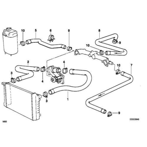 Original BMW 64218380270 Schlauch Motorvorlauf-Zusatzwasserpumpe 7er