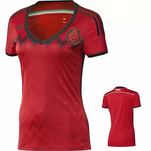 Team Mexico Womens World Cup Adidas L Red Soccer Jersey 2014  30669c01d2