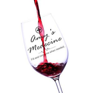 Image Is Loading Personalised Medicine Wine Gl Novelty Gift Pw 11