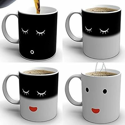 Magic Morning Mug Heat Sensitive Color Change Coffee Milk Mug Cup Gift Hot Tea