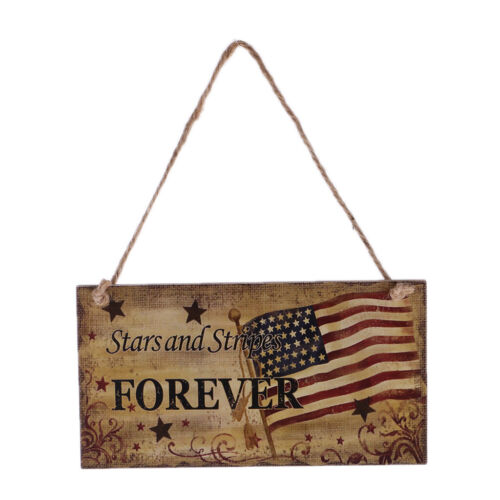 FOREVER 4th of July US Flag National Day Patriotic Wooden Hanging Plaque