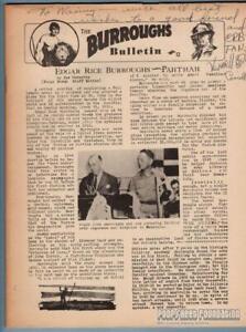 BURROUGHS-BULLETIN-12-fanzine-RUSS-MANNING-Philip-Jose-Farmer-ERB-signed-1956