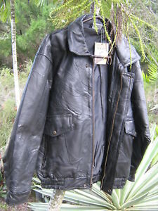 New Black Leather Jacket Brand Flight Path 107860 New With Tags