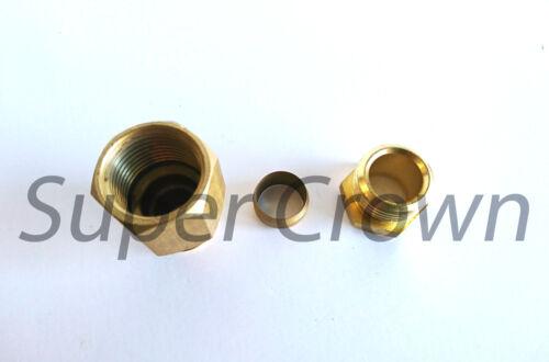 M18*1.5xPT3//8 Set Brass Thread Reducer Straight Connectors Fitting Ф12 F x M
