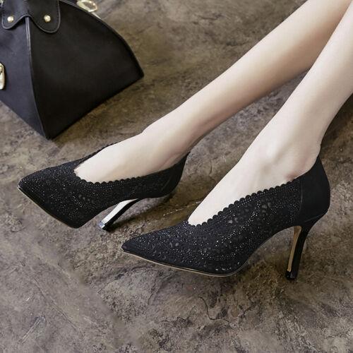 partij hoge holle pompen hak Stiletto puntige Ske15 schoenen Womens toe ademende XTkZOiuP