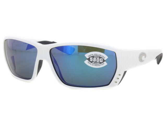 b23127a15cf6 NEW Costa del Mar Tuna Alley TA 25 OBMGLP White Frame / Blue Mirror 580G  Lenses