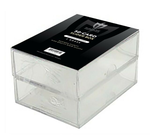 Lot of 6 Ultra Pro 250 Count 2 Piece Card Clear Storage Box Boxes New