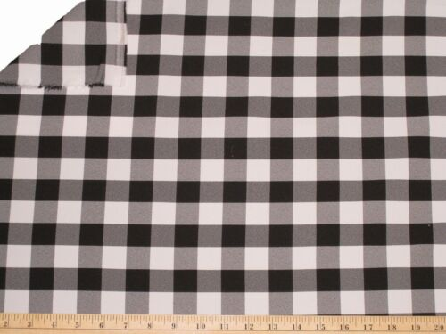 """30 ft Checkered Fabric 60/"""" Wide Gingham Buffalo Check Tablelcoth Fabric Decor"""