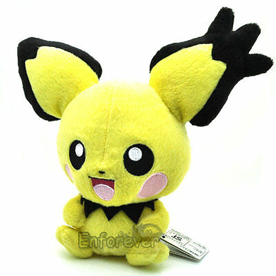 "7"" PICHU Rare Pokemon Plush Soft Toy Doll^PC1752"