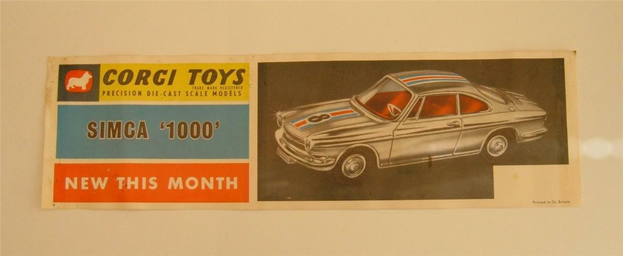 Corgi Toys Promotional Window Streamer, - Superb Mint