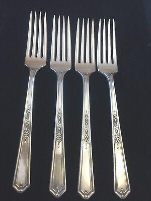 "antique Oneida Community Sheraton 1910 silver pl 8 1//2/"" serving fork 2 forks avl"