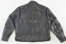 Harley Davidson Men Reflective WillieG Skull Black Leather Jacket 98099-07VM 2XL