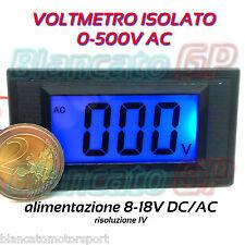 VOLTMETRO DIGITALE ISOLATO 0-500V AC LCD BLU da pannello voltmeter power supply