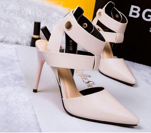 Abricot 10 Éscarpins Aiguille Talon Femmes Cm Sandales Décollte Chaussures 8653 8q1ZnR