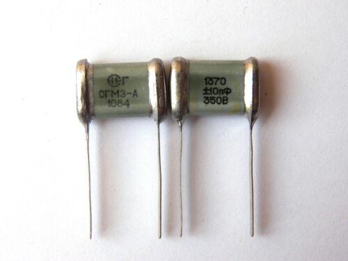 1370pF 350V 0.7/% ex-USSR Silver Mica SGM Capacitor Hi-End 16pcs