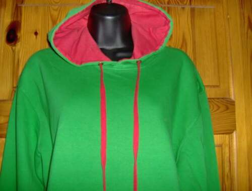 BLUE P SWEATSHIRT TOPS WITH LINED HOOD XL GREEN SIZES S UNISEX HOODIE