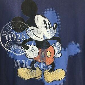 c62805fb Disney Store Mens Mickey Mouse Blue Tshirt XXL 100% Organic Cotton ...