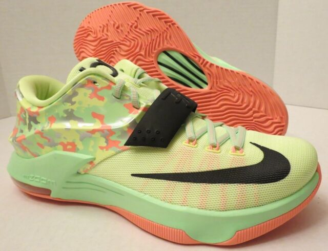 best website a42de 1db01 NIKE KD VII LOW BASKETBALL SHOES 653996 304 EASTER LIQUID LIME (MEN'S 11) 7