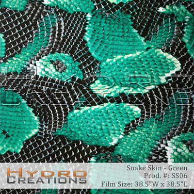 HYDROGRAPHIC WATER TRANSFER HYDRODIPPING FILM HYDRO DIP GREEN SKINS 1M
