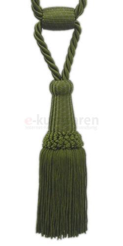 Raffhalter 16cm Klassische Quaste mit Kordel Troddel Gardinen Vorhänge Deko