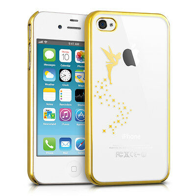 kwmobile Schutz Hülle für Apple iPhone 4 4S Fee Gold Crystal Case Cover Bumper