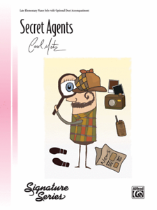 """secret Agents"" Late Elementary Piano Solo Sheet Music-carol Matz-new On Sale!!"