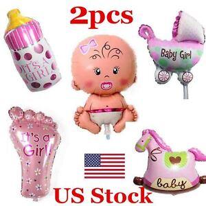 2PCS Girl Foil Helium Balloon for newborn Baby Shower Christening Birthday Party
